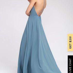Lulus Blue Dress Size : M. Sexy back!